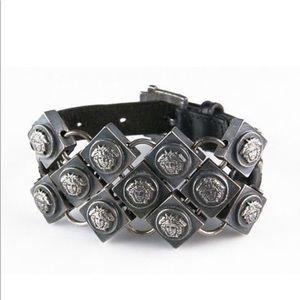 Gorgeous Gianni Versace Leather Bracelet